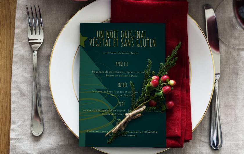 2 menus de Noël 100% vegan et sans gluten