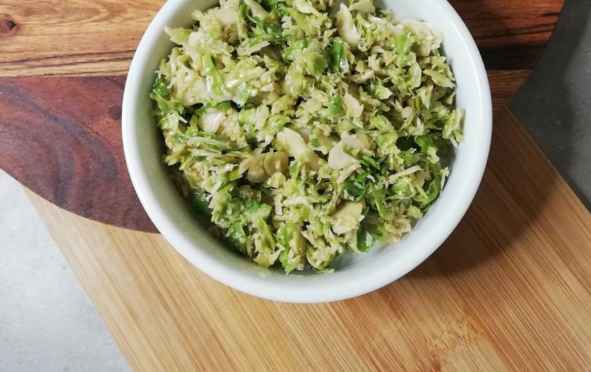 Salade de choux de Bruxelles [vegan et sans gluten]