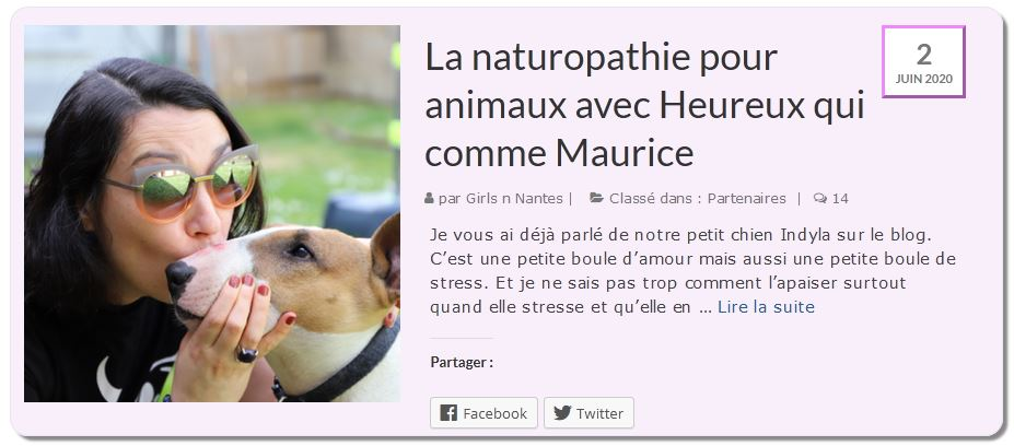 Article avis naturopathie animale Elodie Michel