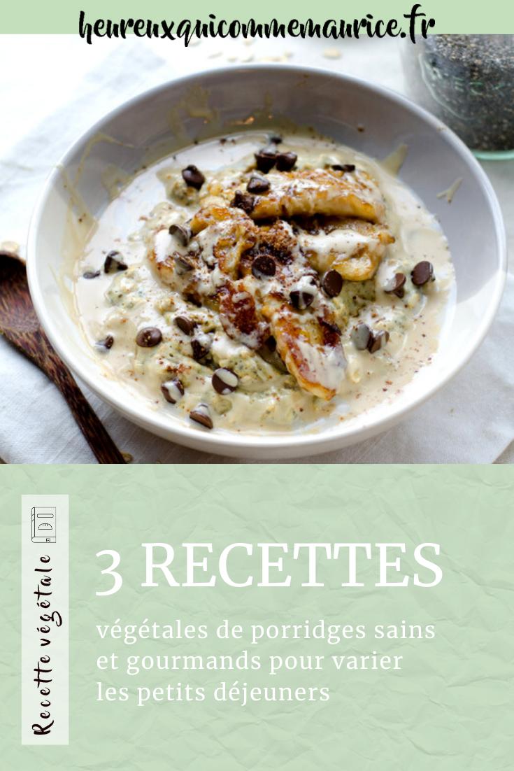 Recette porridge de chia vegan