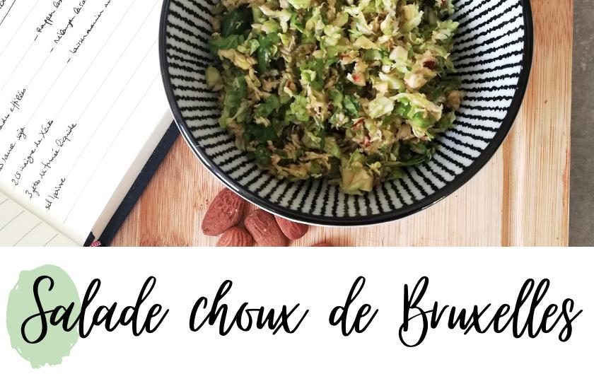salade choux de Bruxelles crus