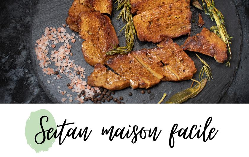 seitan viande vegan recette facile